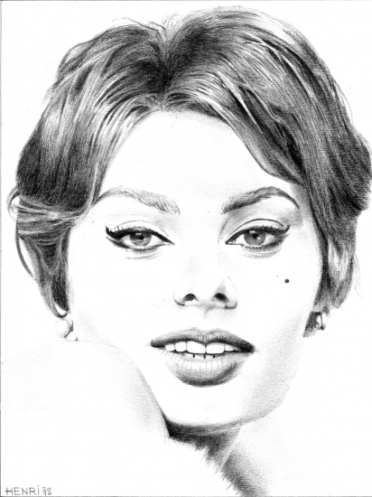 Sophia Loren by Riton